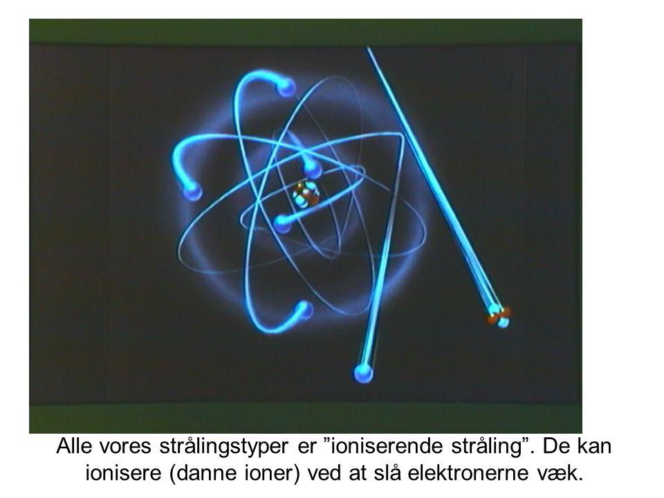 Alle vores strålingstyper er ioniserende stråling