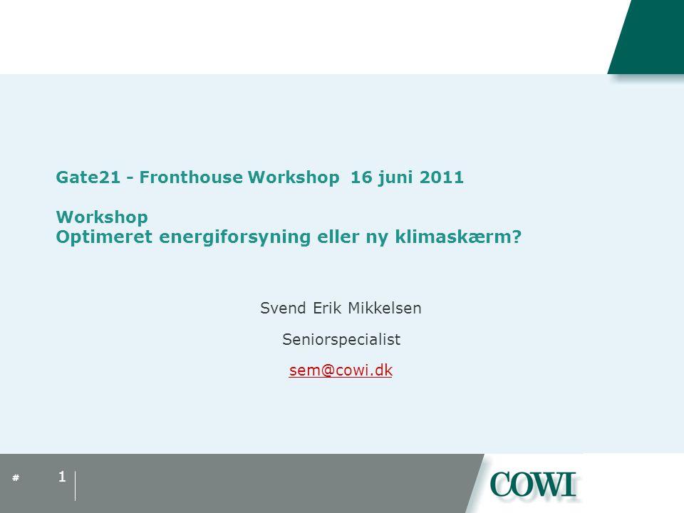 Svend Erik Mikkelsen Seniorspecialist sem@cowi.dk