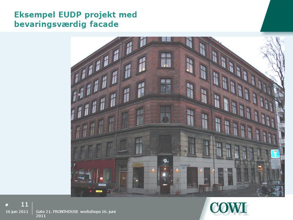 Eksempel EUDP projekt med bevaringsværdig facade