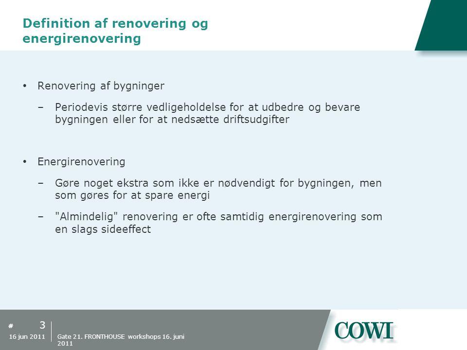 Definition af renovering og energirenovering