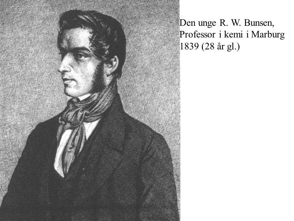 Den unge R. W. Bunsen, Professor i kemi i Marburg 1839 (28 år gl.)