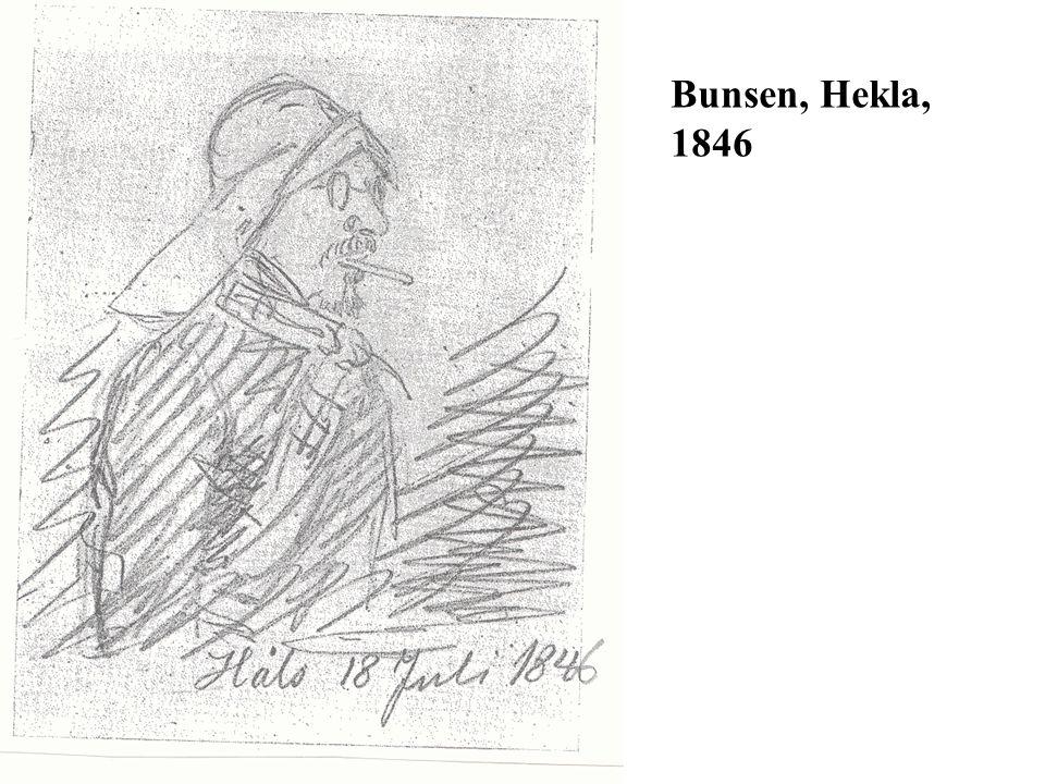 Bunsen, Hekla, 1846