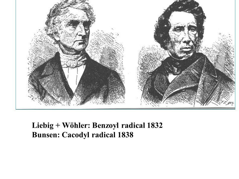 Liebig + Wöhler: Benzoyl radical 1832