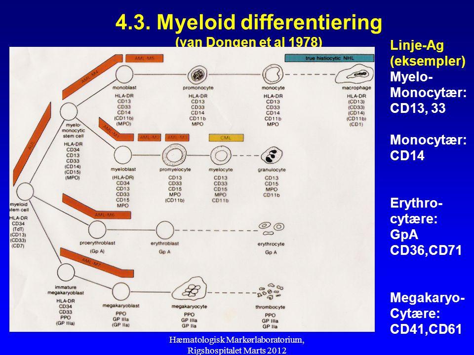 4.3. Myeloid differentiering (van Dongen et al 1978)