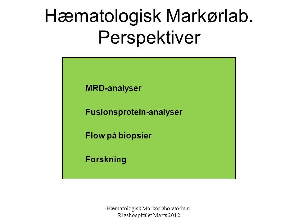 Hæmatologisk Markørlab. Perspektiver