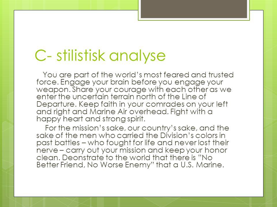 C- stilistisk analyse