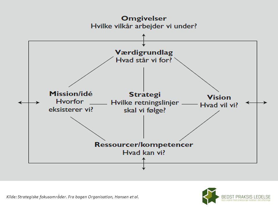 Kilde: Strategiske fokusområder. Fra bogen Organisation, Hansen et al.