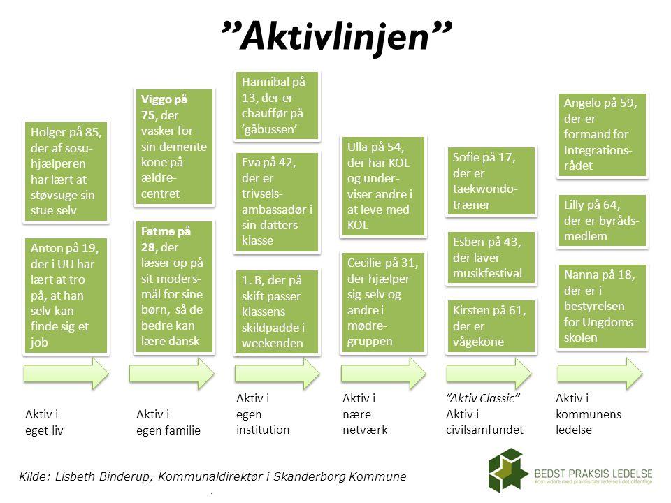 Kilde: Lisbeth Binderup, Kommunaldirektør i Skanderborg Kommune