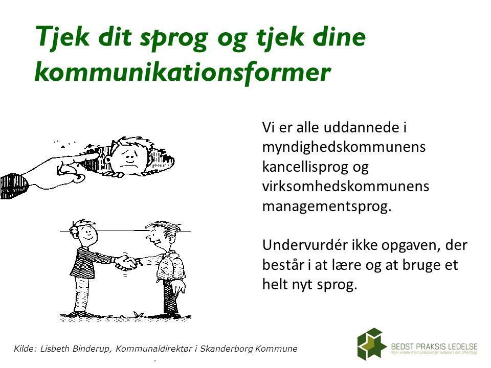 Tjek dit sprog og tjek dine kommunikationsformer