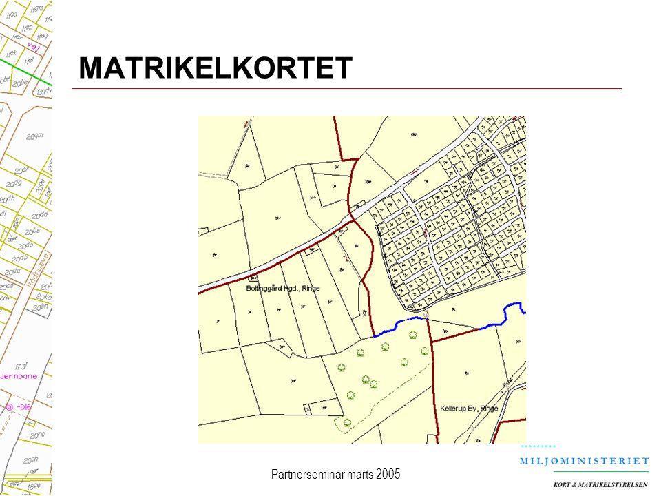 MATRIKELKORTET Partnerseminar marts 2005