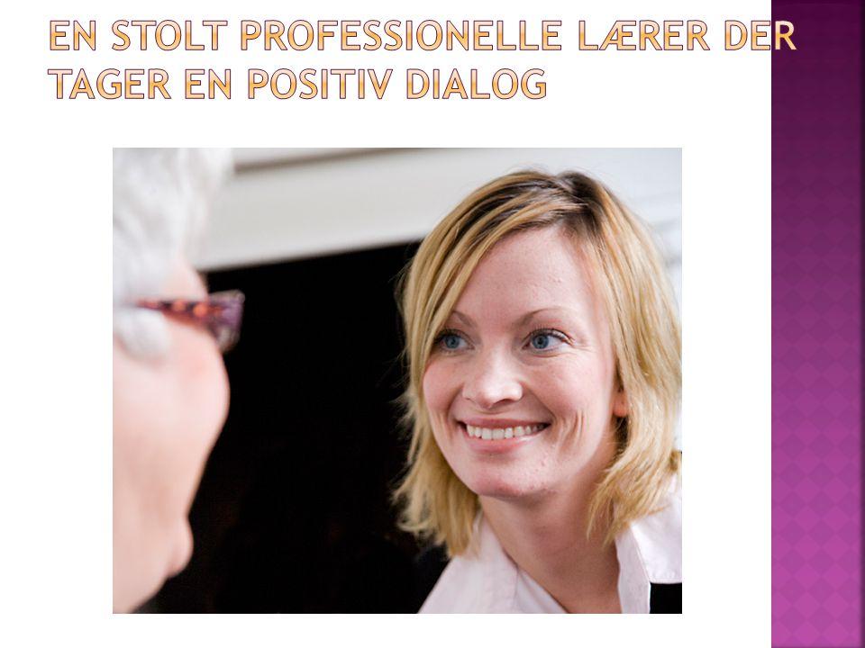 En stolt professionelle lærer der tager en positiv dialog