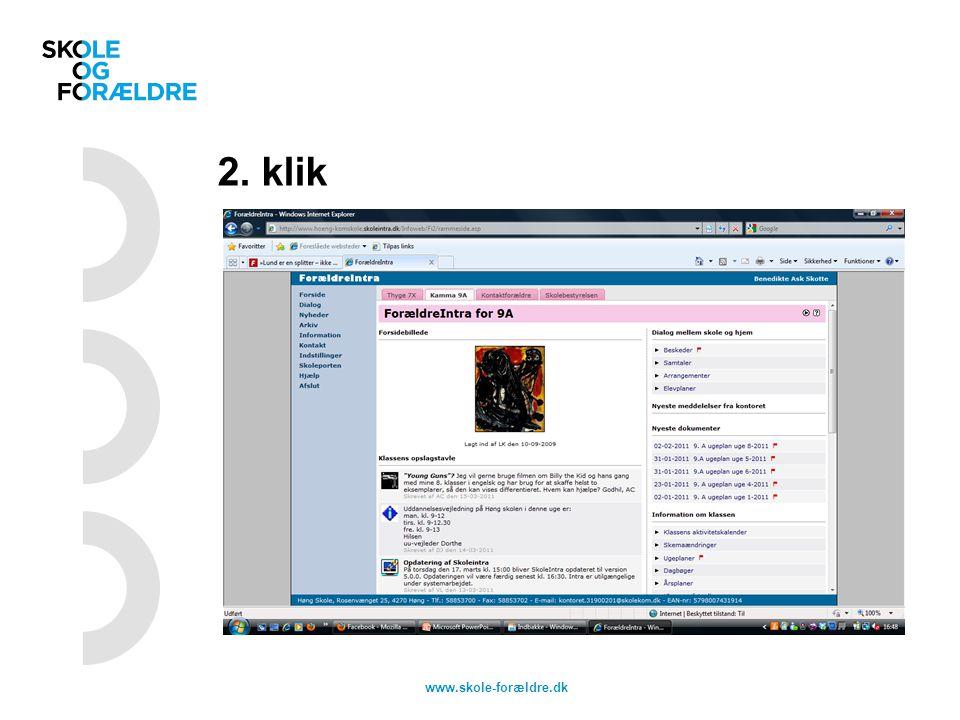 2. klik www.skole-forældre.dk