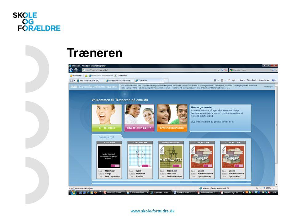Træneren www.skole-forældre.dk