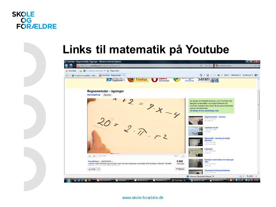 Links til matematik på Youtube