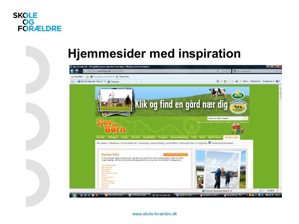 Hjemmesider med inspiration