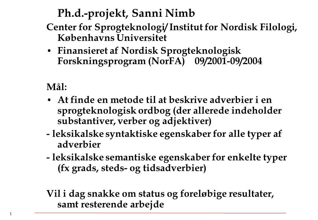 Ph.d.-projekt, Sanni Nimb