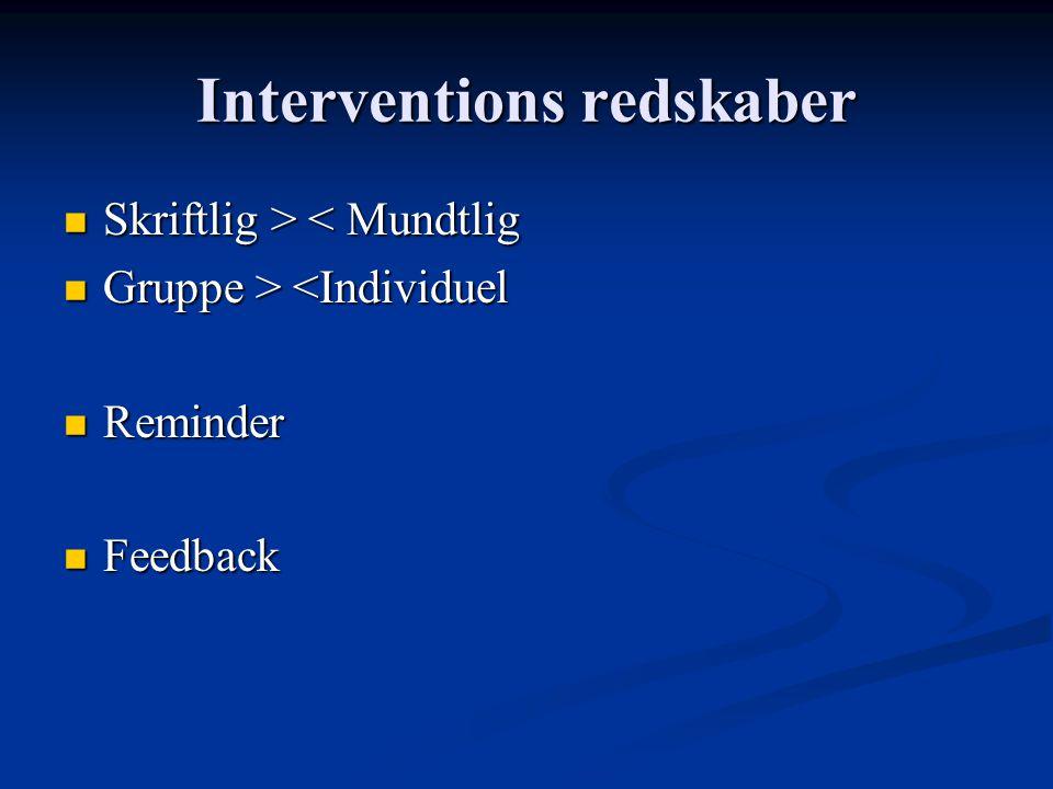 Interventions redskaber