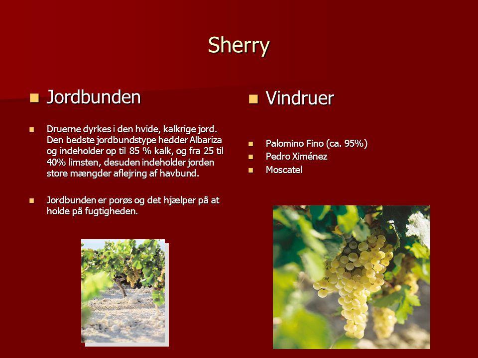 Sherry Jordbunden Vindruer