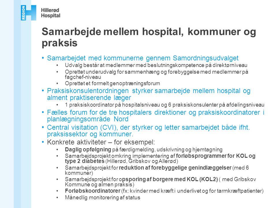 Samarbejde mellem hospital, kommuner og praksis