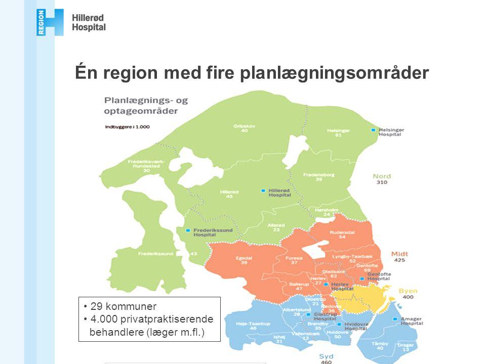 Én region med fire planlægningsområder