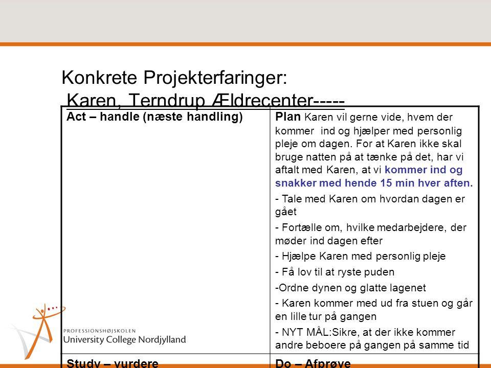Konkrete Projekterfaringer: Karen, Terndrup Ældrecenter-----