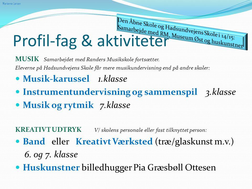 Profil-fag & aktiviteter