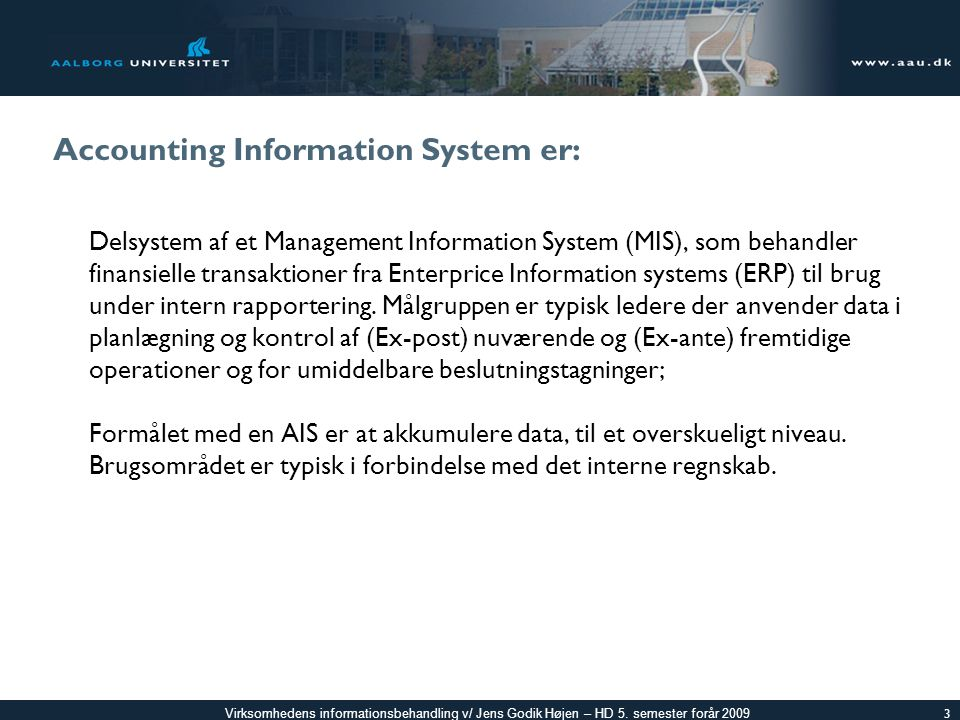 Accounting Information System er: