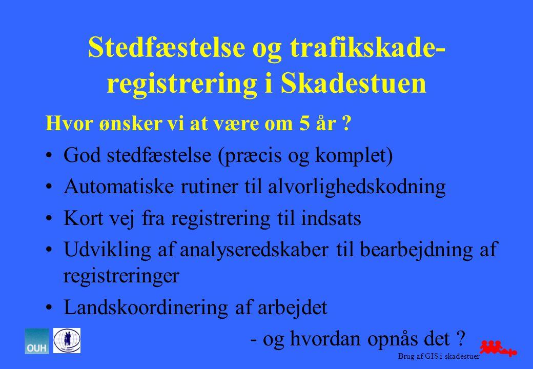 Stedfæstelse og trafikskade- registrering i Skadestuen