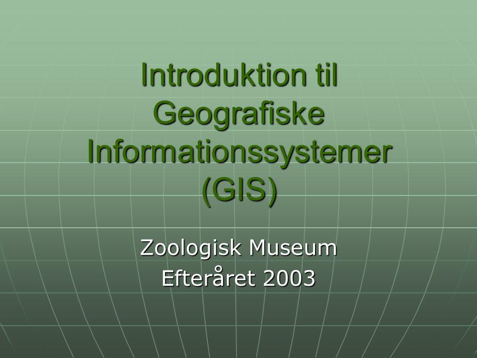 Introduktion til Geografiske Informationssystemer (GIS)