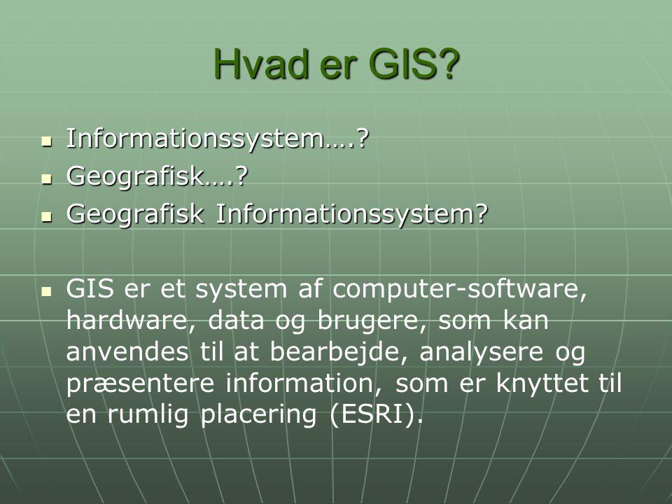 Hvad er GIS Informationssystem…. Geografisk….