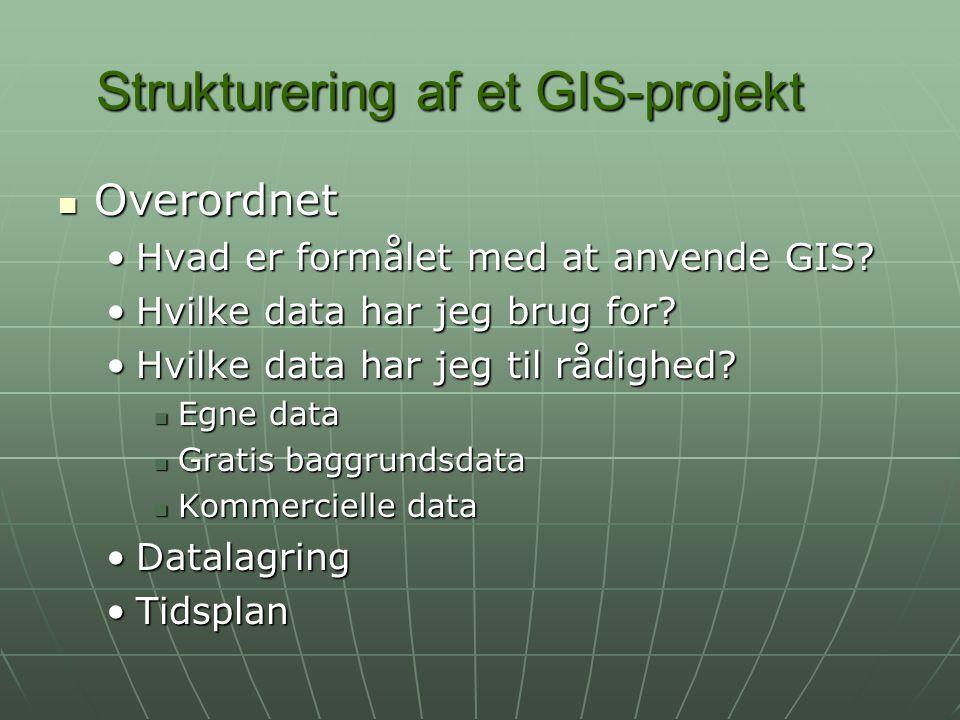 Strukturering af et GIS-projekt