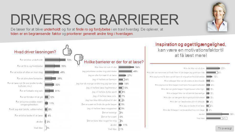 Inspiration og øget tilgængelighed, kan være en motivationsfaktor til