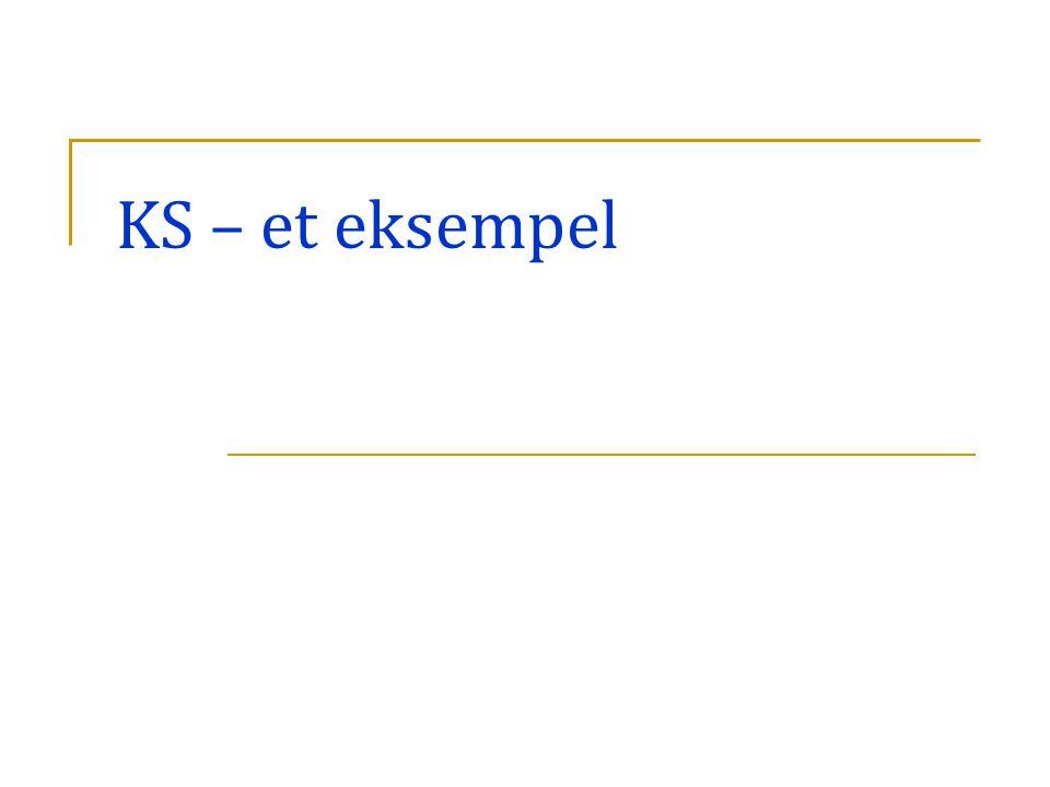 KS – et eksempel Gode forløb og erfaringer med nuværende prøveform v/lærere i ks 11.30-12.15. De nærmere stikord til jeres punkt kunne være: