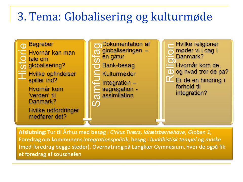 3. Tema: Globalisering og kulturmøde