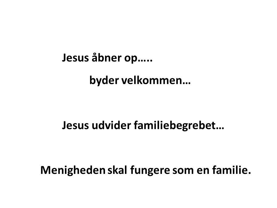 Jesus åbner op…..