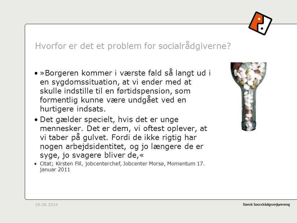 Hvorfor er det et problem for socialrådgiverne