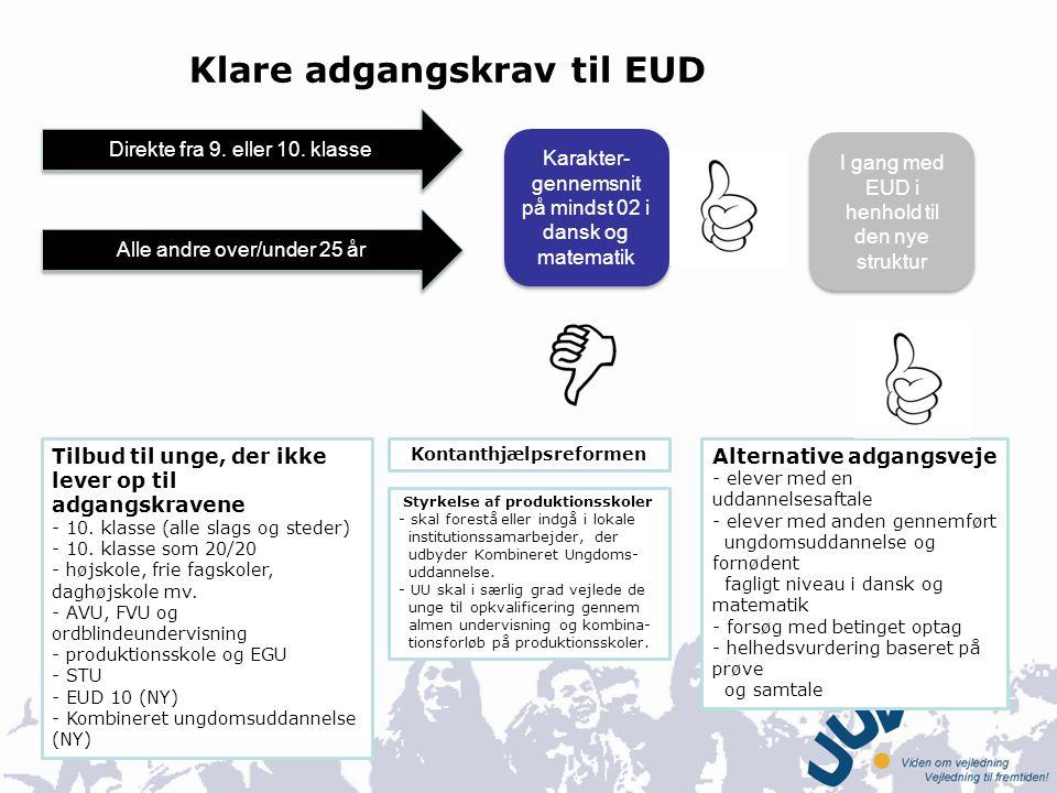Klare adgangskrav til EUD