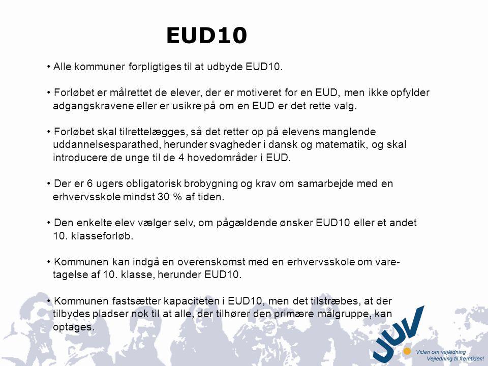 EUD10 Alle kommuner forpligtiges til at udbyde EUD10.