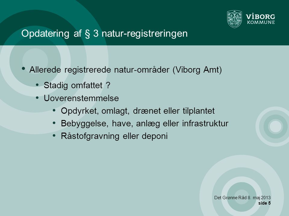 Opdatering af § 3 natur-registreringen