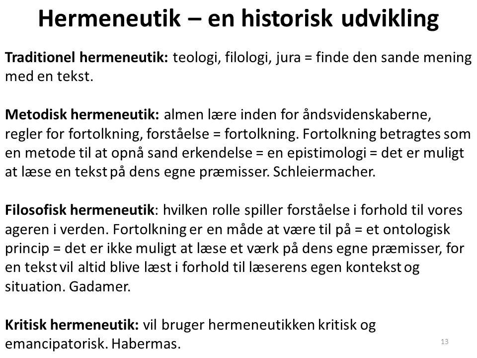 Hermeneutik – en historisk udvikling