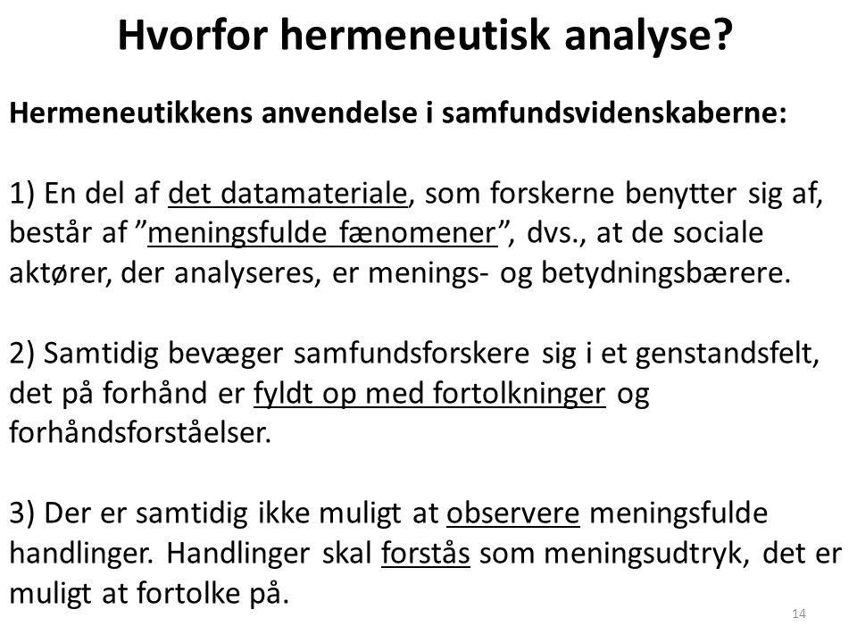 Hvorfor hermeneutisk analyse