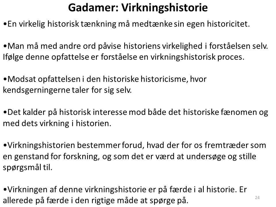 Gadamer: Virkningshistorie