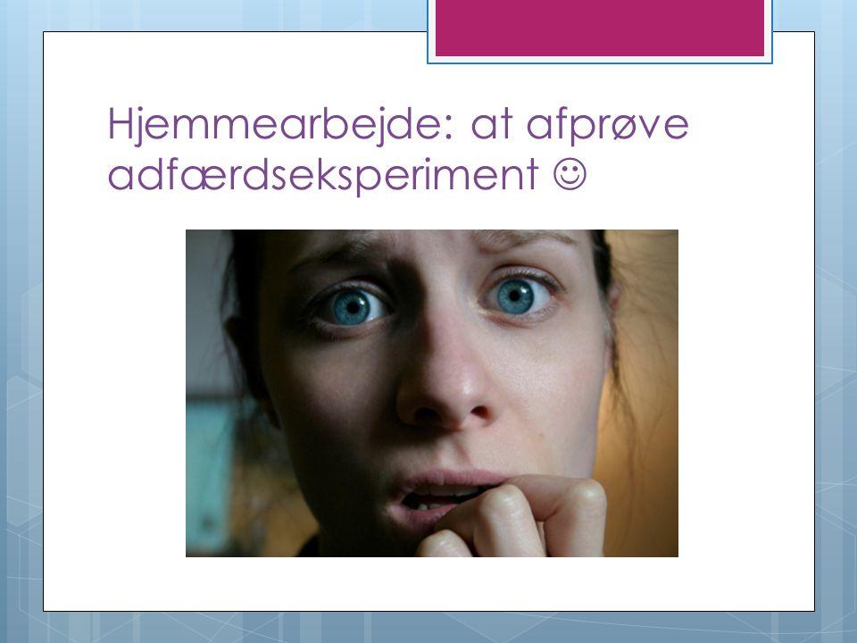 Hjemmearbejde: at afprøve adfærdseksperiment 