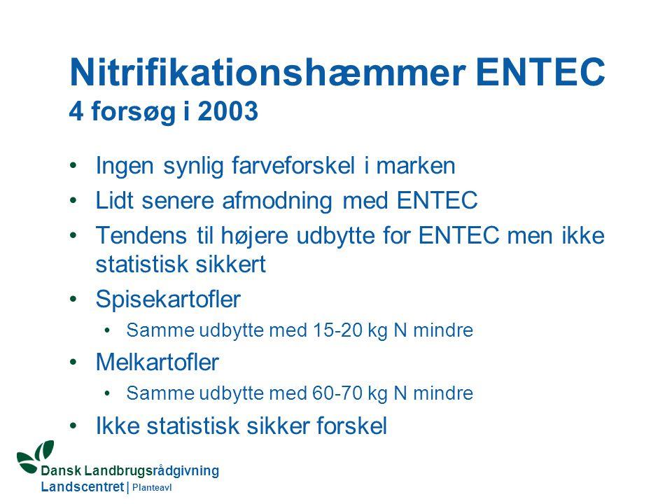 Nitrifikationshæmmer ENTEC 4 forsøg i 2003