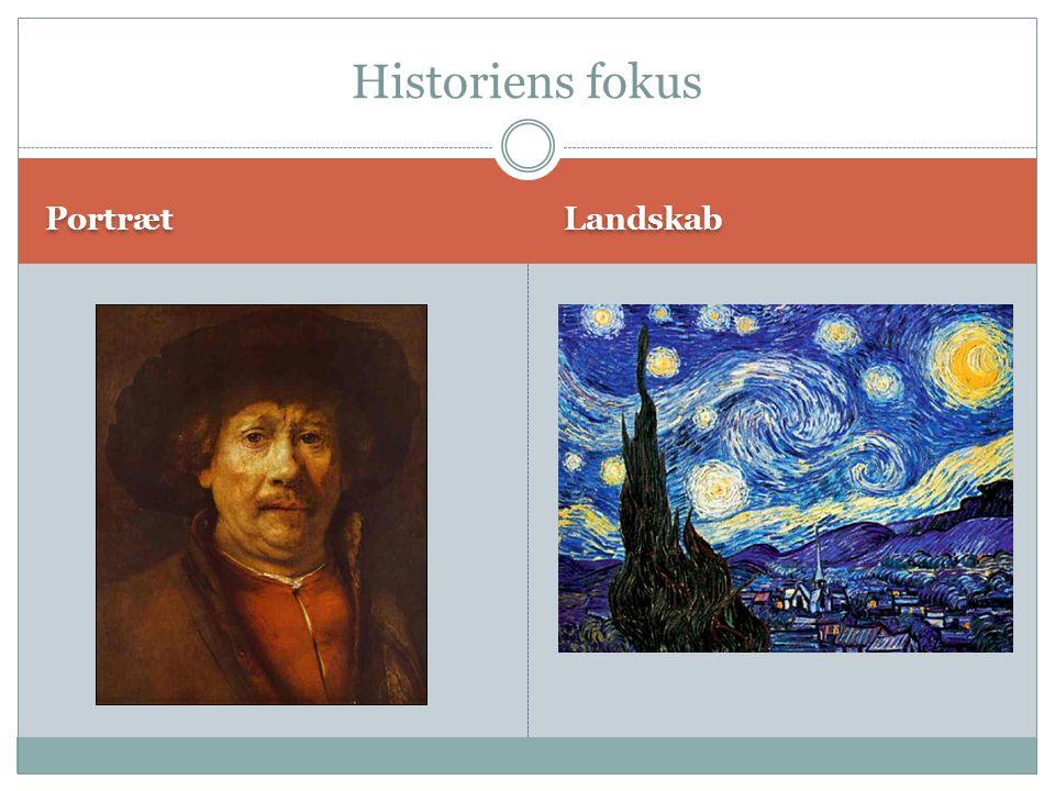 Historiens fokus Portræt Landskab