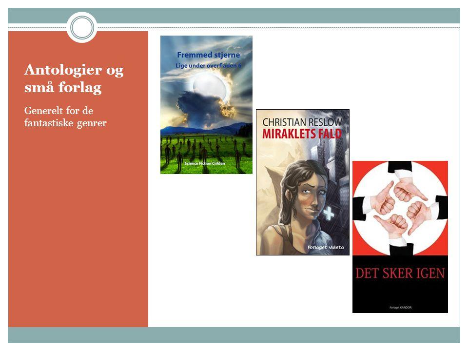 Antologier og små forlag