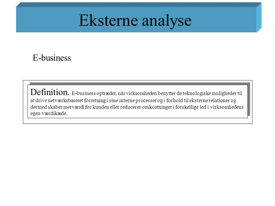 Eksterne analyse E-business