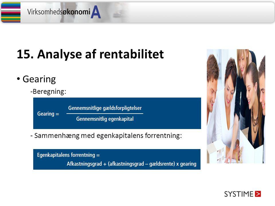 15. Analyse af rentabilitet