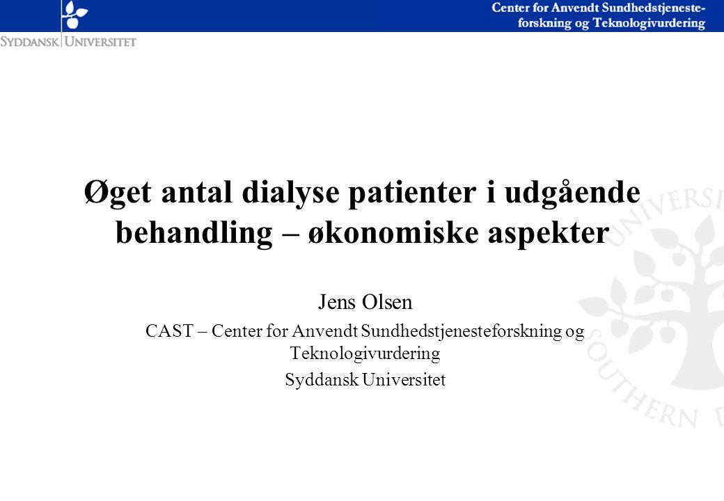 Øget antal dialyse patienter i udgående behandling – økonomiske aspekter