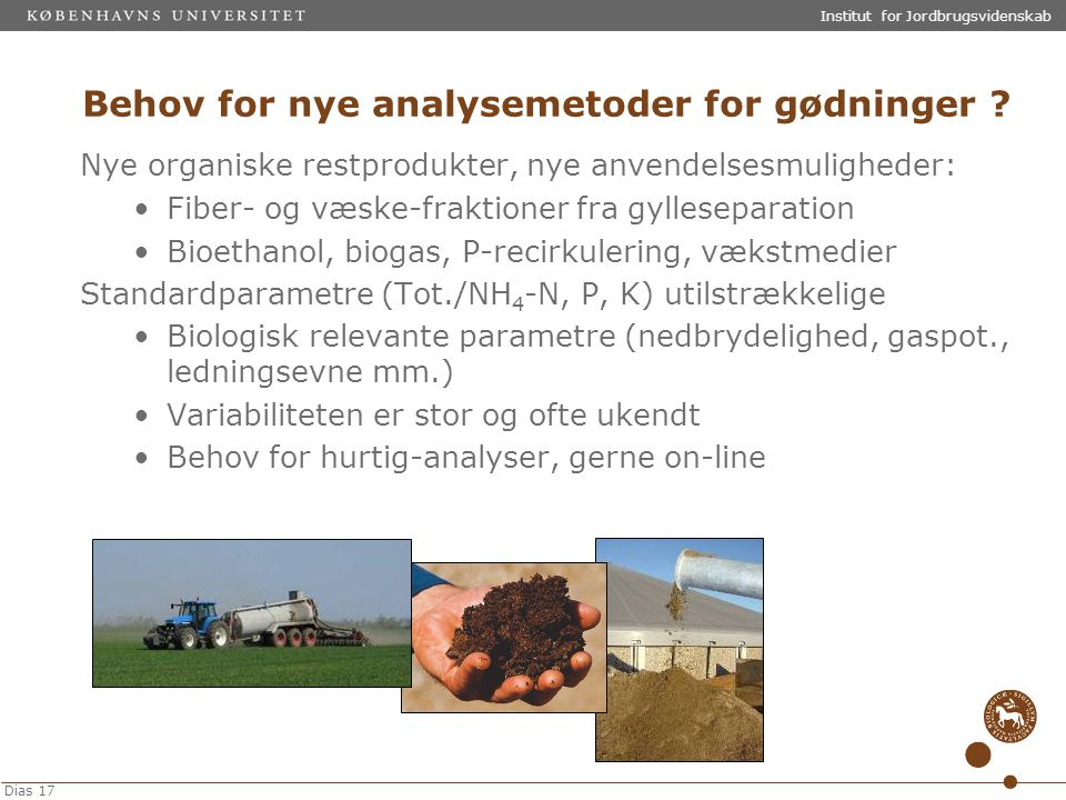 Behov for nye analysemetoder for gødninger